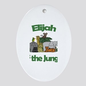 Elijah of the Jungle Oval Ornament