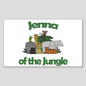 Jenna of the Jungle Rectangle Sticker
