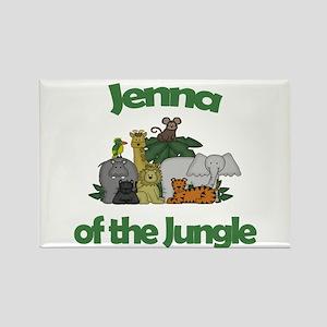 Jenna of the Jungle Rectangle Magnet