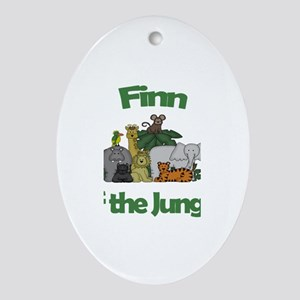 Finn of the Jungle Oval Ornament
