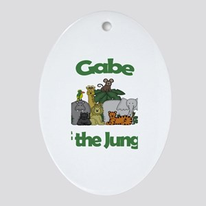 Gabe of the Jungle Oval Ornament