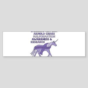 Unicorns Support Arnold Chiari Malf Bumper Sticker
