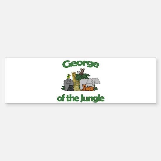 George of the Jungle Bumper Bumper Bumper Sticker