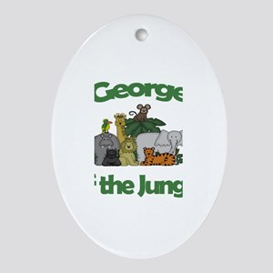 George of the Jungle Oval Ornament
