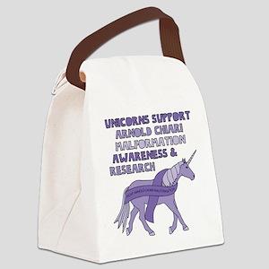 Unicorns Support Arnold Chiari Ma Canvas Lunch Bag