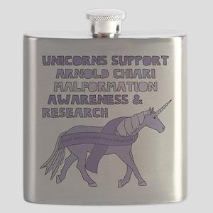 Unicorns Support Arnold Chiari Malformation Flask