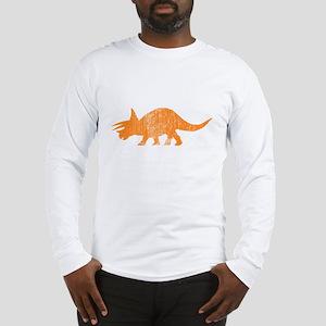 triceratops_orange Long Sleeve T-Shirt