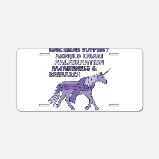 Unicorns Support Arnold Chi Aluminum License Plate