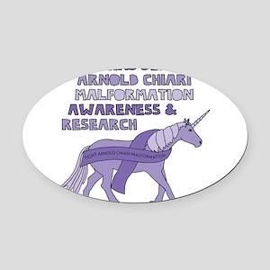 Unicorns Support Arnold Chiari Mal Oval Car Magnet