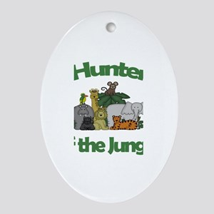 Hunter of the Jungle Oval Ornament