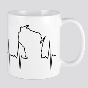 Wisconsin Heartbeat Mugs
