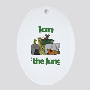 Ian of the Jungle Oval Ornament