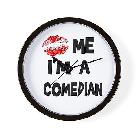 Kiss Me I'm A Comedian Wall Clock