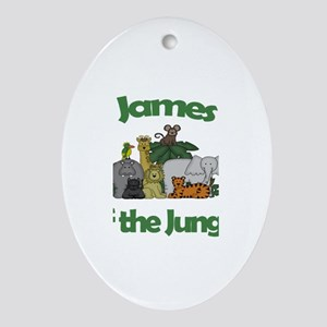 James of the Jungle Oval Ornament