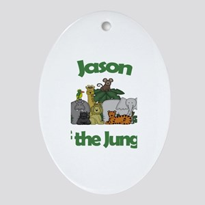 Jason of the Jungle Oval Ornament