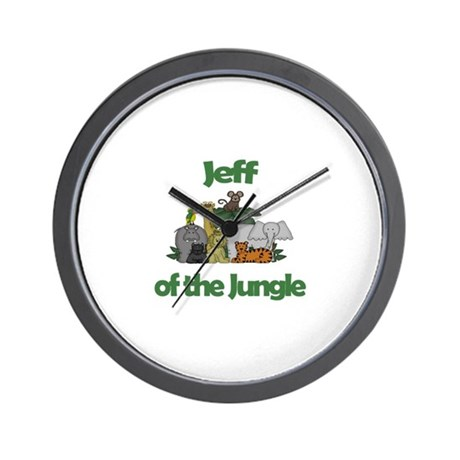 Jeff of the Jungle Wall Clock