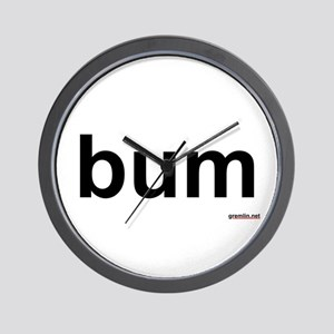 BTR: bum Wall Clock