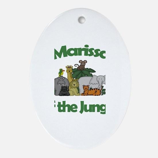 Marissa of the Jungle Oval Ornament