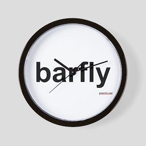 BTR: barfly Wall Clock