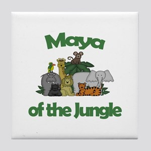 Maya of the Jungle Tile Coaster