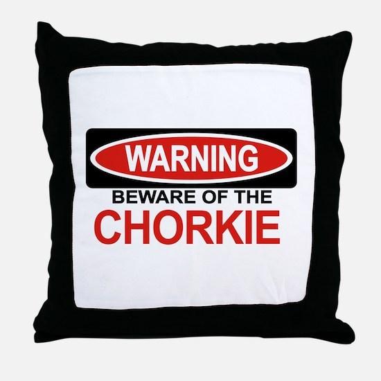 CHORKIE Throw Pillow