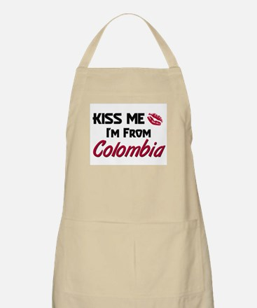 Kiss Me I'm from Colombia BBQ Apron