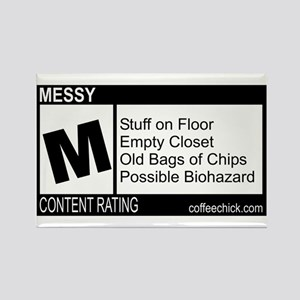 CONTENT RATING Rectangle Magnet