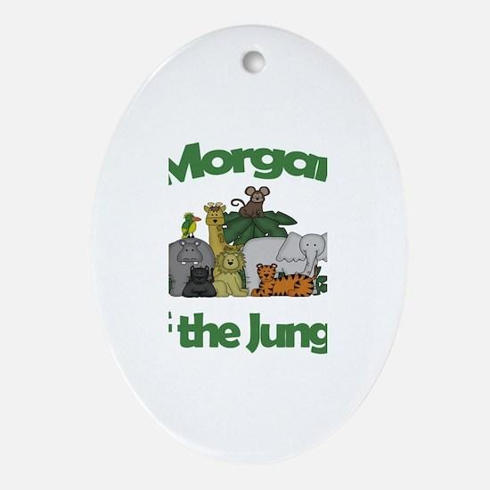 Morgan of the Jungle Oval Ornament
