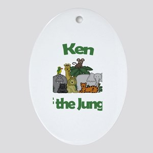 Ken of the Jungle Oval Ornament