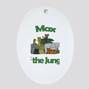 Max of the Jungle Oval Ornament