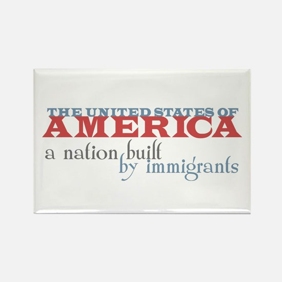 A Nation Built by Immigrants Rectangle Magnet