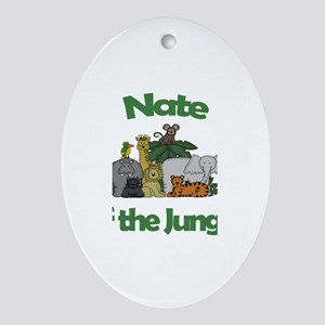 Nate of the Jungle Oval Ornament