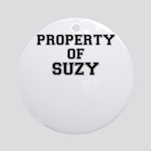 Property of SUZY Round Ornament