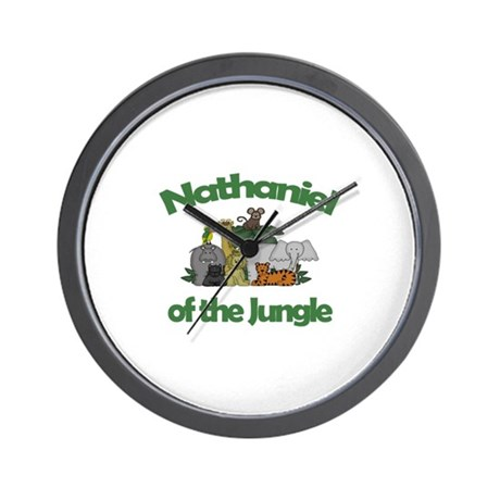 Nathaniel of the Jungle Wall Clock