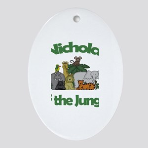 Nicholas of the Jungle Oval Ornament