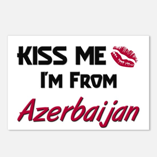 Kiss Me I'm from Azerbaijan Postcards (Package of