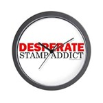 Desperate Stamp Addict Wall Clock