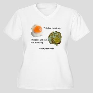 Meetings Women's Plus Size V-Neck T-Shirt