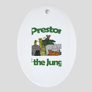 Preston of the Jungle Oval Ornament
