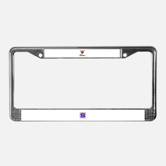 My heart, friend, Family, Wels License Plate Frame