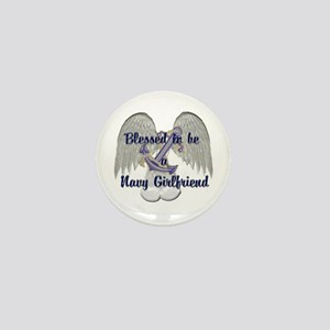 Blessed Navy Girlfriend Mini Button