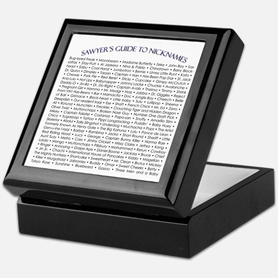 Sawyer's Guide to Nicknames Keepsake Box