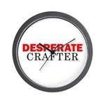 Desperate Crafter Wall Clock