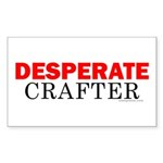 Desperate Crafter Rectangle Sticker