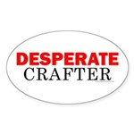 Desperate Crafter Oval Sticker
