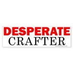 Desperate Crafter Bumper Sticker