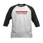 Desperate Crafter Kids Baseball Jersey