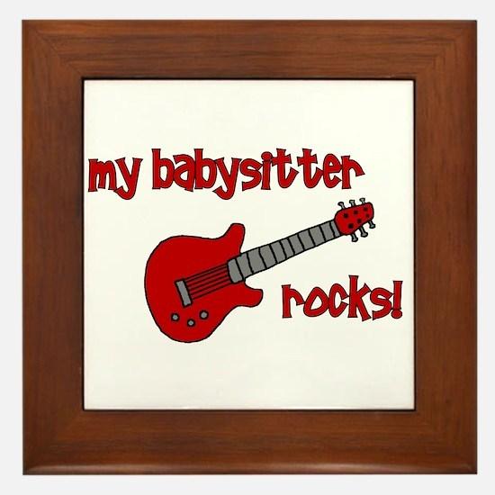 My Babysitter Rocks!  Framed Tile