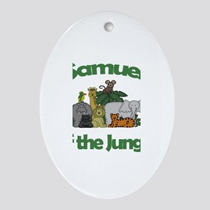 Samuel of the Jungle Oval Ornament