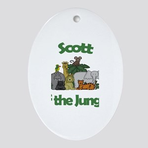 Scott of the Jungle Oval Ornament